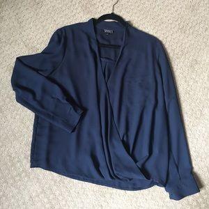 Topshop flowy vneck blouse